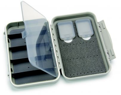 C&F Medium 2-Row WP Tube  Fly Case w 5 Comp (CF-2405H) Light Grey