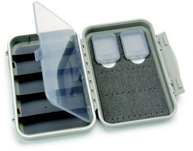 C&F Medium 2-Row WP Tube  Fly Case w 5 Comp (CF-2405H) Light Grey