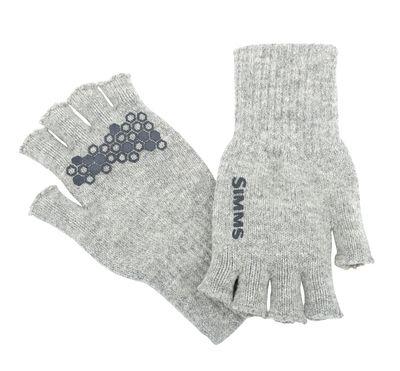 Simms Wool Half Finger Glove Cinder S/M