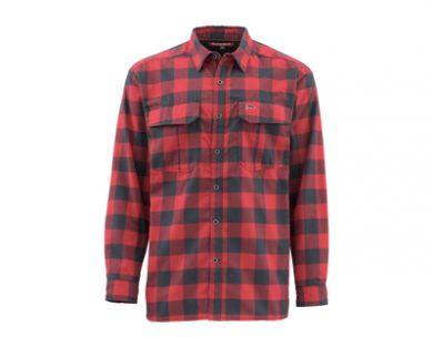 Simms Coldweather Shirt - Red Buffalo Plaid