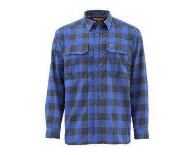 Simms Coldweather Shirt - Rich Blue Buffalo Plaid